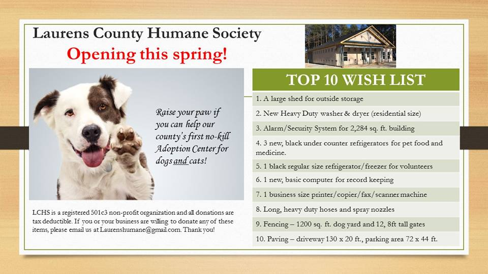 laurens-county-humane-wish-list